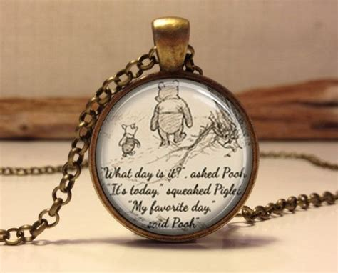Winnie The Pooh Quote Necklace. Inspirational Words