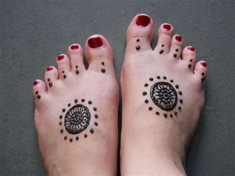 Henné Pied Simple Simple Henna Design For All