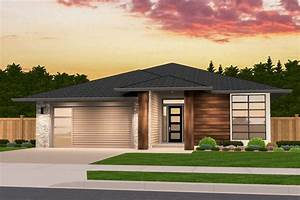 Exclusive, One, Story, Prairie, House, Plan, With, Open, Layout