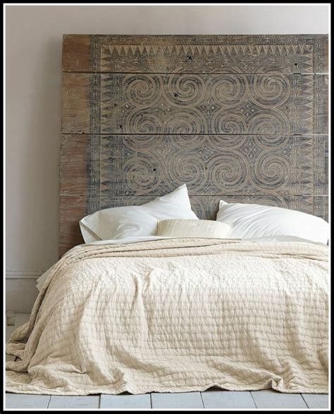 Bett Kopfteil Gepolstert Diy  Betten  House Und Dekor