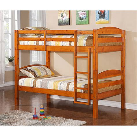 twin over twin solid wood bunk bed multiple colors