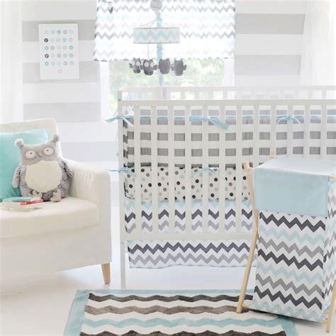 Baby Crib Bedding Chevron by Chevron Baby Aqua Crib Set Interiordecorating