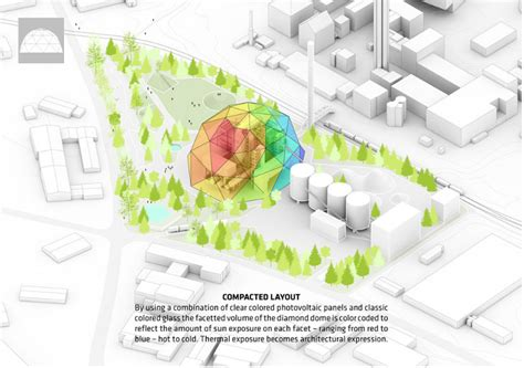 big unveils a luminescent geodesic dome biomass power plant and it s also a park
