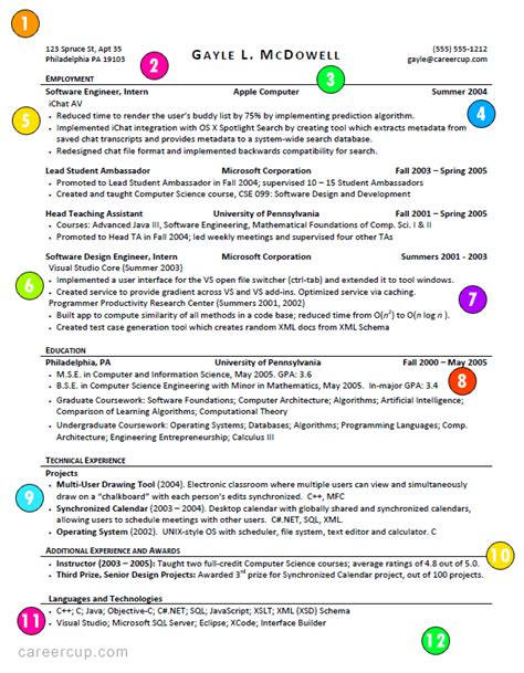 What A Student Resume Should Look Like by This Is What A Resume Should Look Like Careercup