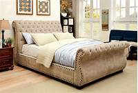 upholstered sleigh bed Noemi Queen Upholstered Sleigh Bed, CM7127Q, Furniture of ...