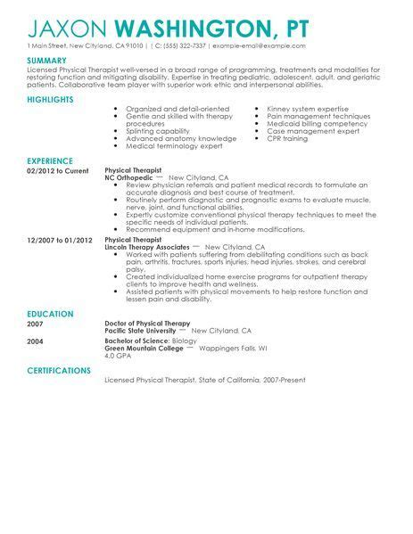 Physical Therapist Resume Sle by Do You The Tools You Need To Get A Check