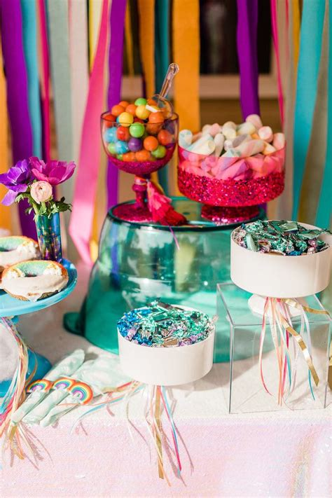 karas party ideas cloud  rainbow  birthday party