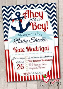 Diaper Invite Template Nautical Baby Shower Invitation With Free Diaper By