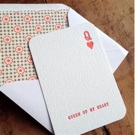 Queen Of My Heart Letterpress Anniversary Wedding Or