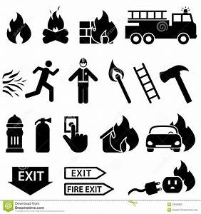 Fire Related Icon Set Stock Photos Image 34333963