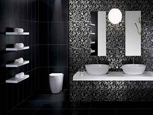 Cool white black black bathroom ideas applied for modern for Black and white modern bathroom
