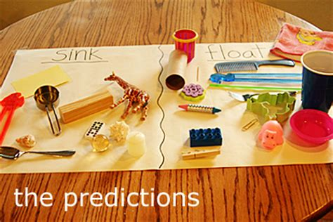 sink or float experiment science for children guess which items will sink or float