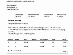 Rechnung Höher Als Angebot Vob : 3 mahnung f r freiberufler vorlage muster ~ Themetempest.com Abrechnung