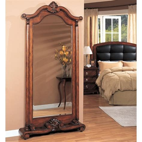 Brown Wood Floor Mirror   Steal A Sofa Furniture Outlet