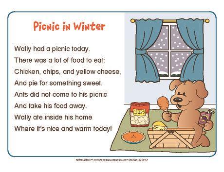 picnic  winter describing words short  words