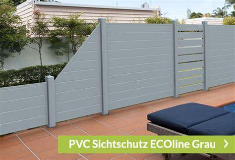 Garten Sichtschutz Kunststoff Grau by Sichtschutz Grau Sichtschutzzaun Shop De