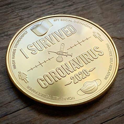 survived coronavirus  coin  justin heister design swan