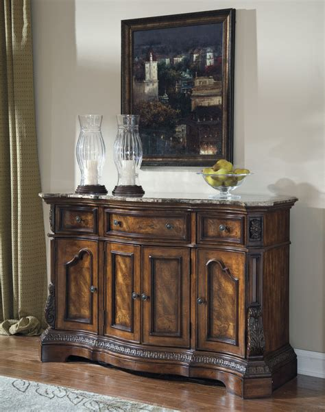 Brown Traditional Dining Room Server Sideboard Buffet