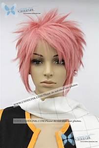 Fairy Tail Natsu Dragneel cosplay wig pink | eBay