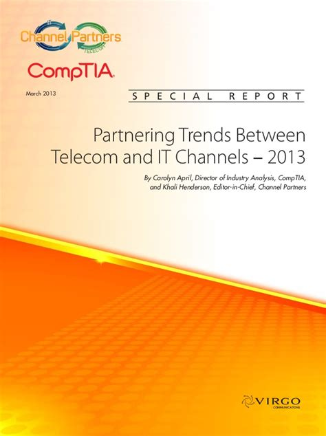 Partnering Trends Between Telecom And It Channels — 2013