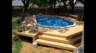 above ground pool deck ideas youtube