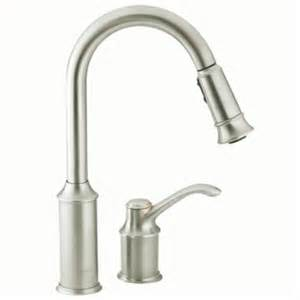 moen kitchen faucets lowes shop moen aberdeen classic stainless pull kitchen faucet at lowes