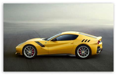 Yellow Ferrari F12 Sports Car 4k Hd Desktop Wallpaper For