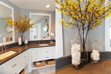 {jessica Stout Design} Yellow + Gray Modern Master Bath