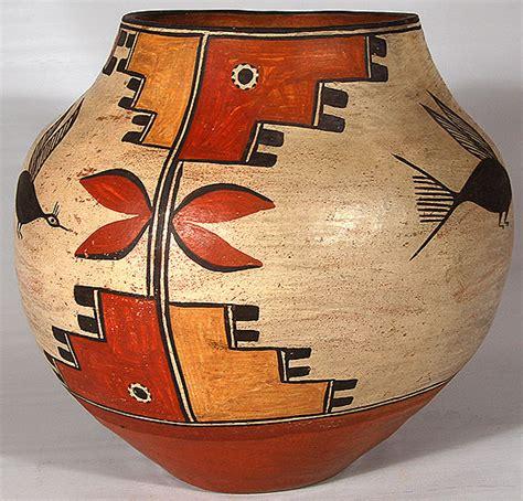 Early 20th Century Zia Pueblo Southwest Indian Pottery Zia Pueblo Historic