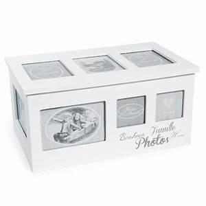 Boite Lumineuse Maison Du Monde : bo te 8 albums photo en bois blanche 20 x 34 cm home ~ Preciouscoupons.com Idées de Décoration