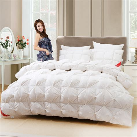 high quality luxury goose down comforter winter thickening