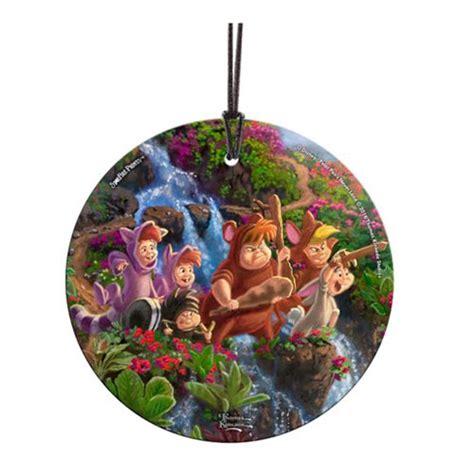 peter pan lost boys starfire prints hanging glass ornament
