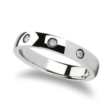 isabella rounded white tungsten carbide ring   diamonds