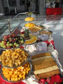 Fruit Cheese and Cracker Display