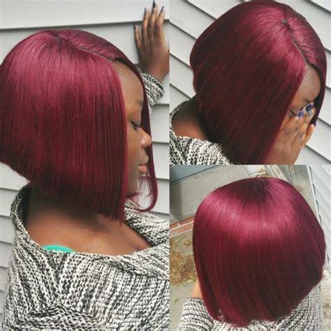 vivid burgundy hair color ideas   fall hair