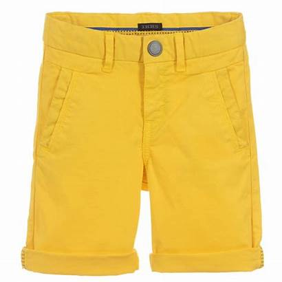 Shorts Yellow Boys Cotton Ikks Childrensalon Bermuda