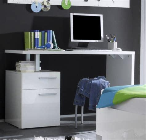petit bureau moderne bureau blanc laqué 1 porte 2 tiroirs quot lys quot
