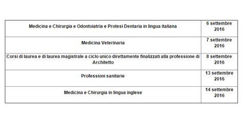 Test D Ingresso Ostetricia - test d accesso alle universit 224 tutte le date si parte