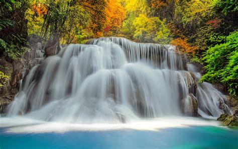 waterfall landscapes waterfall river landscape nature waterfalls autumn wallpaper 3840x2400 682076 wallpaperup