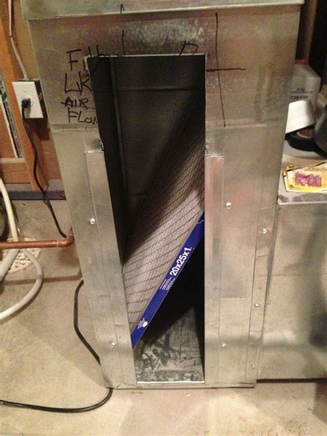 creating a sheet metal bracket to keep a furnace filter in
