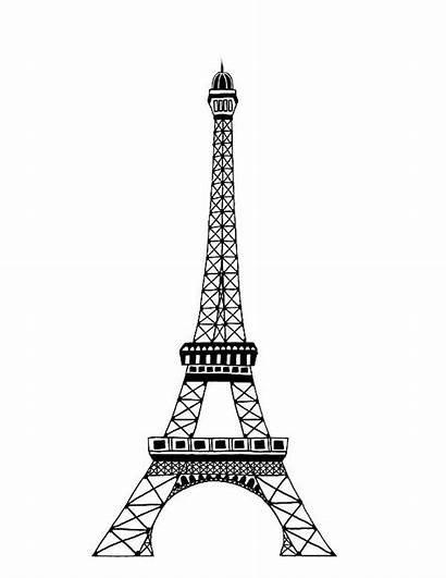 Tower Eiffel Coloring Famous Paris Pages Drawing
