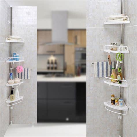 bathroom kitchen corner valet holder stand storage shelf