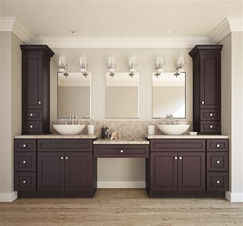 espresso bean ready  assemble bathroom vanities cabinets