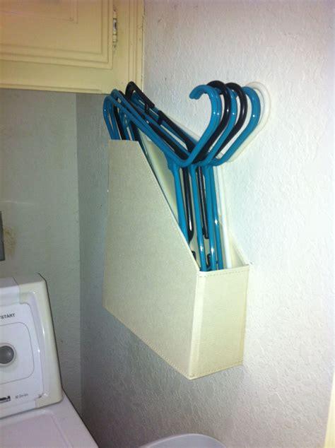magazine holder repurposed   hanger holder