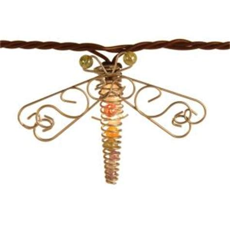 dragonfly outdoor string lights 10 bulb incandescent beaded dragonfly string lights