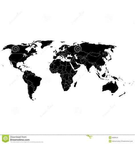 simple world map  countries stock images image