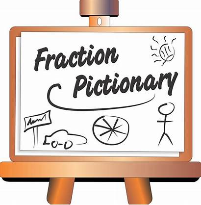 Fractions Math Fraction Pictionary Clipart Games Title