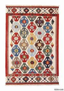 k0003904 multicolor new turkish kilim area rug With tapis kilim vintage