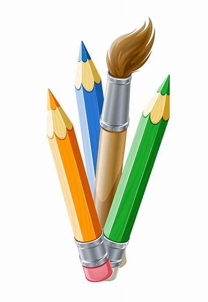 Clipart Paintbrush Pencil Horizontal Pens Transparent