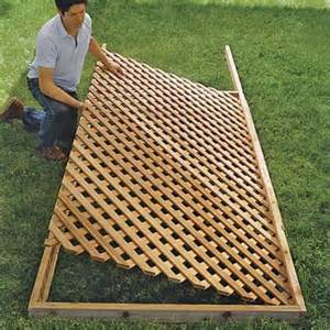 Deck Gates Lowes by Set The Lattice In Place How To Build A Trellis This